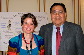 Colleen Stephenson and Albert Pooley at the NCCAH Family is the Focus gathering