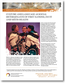 Culture and language as social determinants of First Nations, Inuit, and Métis health<